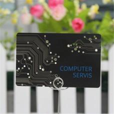 Noir mat métal personnalisés carte de visite