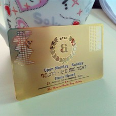Shiny Goldn Card Metal Business Cards