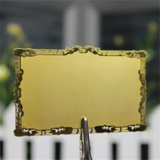 Decoration Border Gold Metal Card, Blank Metal Card