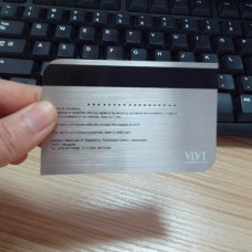 Bande magnétique brushed metal carte, cartes de visite métalliques pas chers personnalisés.