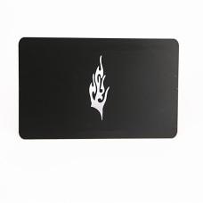 Carte métal noir