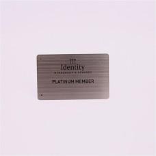 Utilisation de cadeau entreprise et Business card Type de produit brossé métalliques cartes de visite