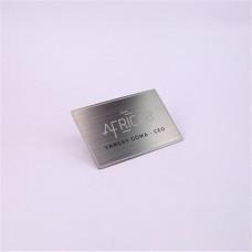 Carte de Shenzhen fabrication haut de gamme personnalisé pas cher métal Business Card