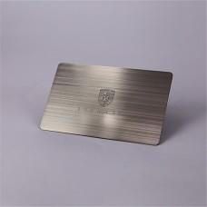 Porsche entreprise personnalisé personnalisés cartes métal brossé