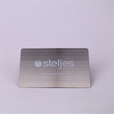 85,5 * 54 MM brossé inoxydable carte