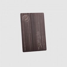 0.5MM Thickness Antique Imitation Style and Plated Technique metal business card Brushed Finish